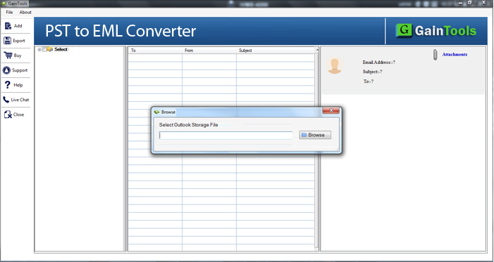 pst to eml converter, pst file to eml converter, export pst file to eml, pst to eml conversion, outlook to eml, export emails from pst into eml, pst mailbox to eml converter