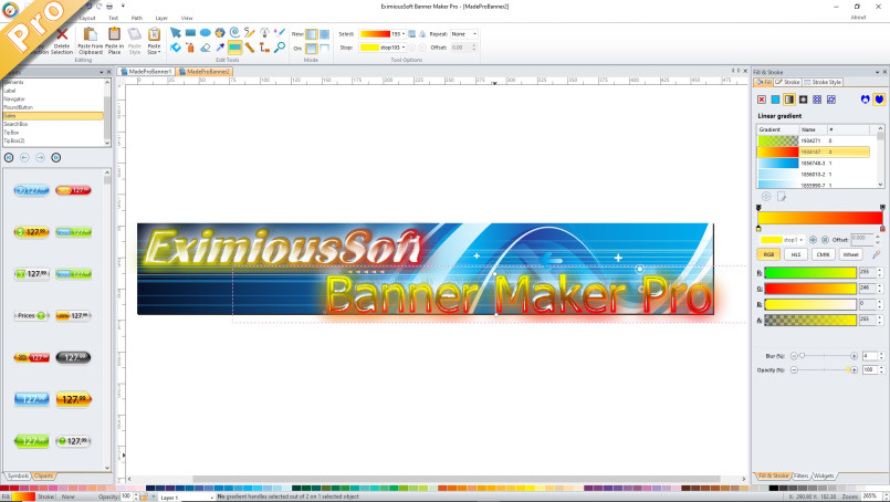 banner, ad, maker, button,create, web header, design, EximiousSoft, gif,jpg, png, banner software